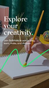 explore creative learning online with Skillshare