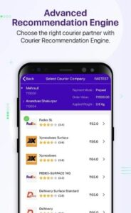 get recommendations of courier partners