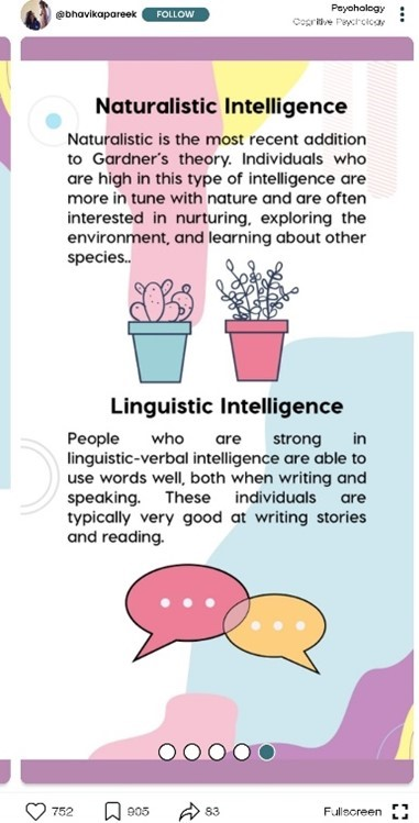 naturalistic and linguistic intelligence facts