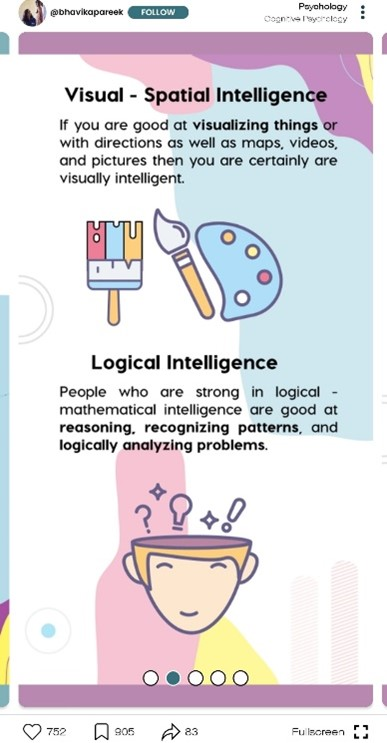 visual and logical intelligence facts